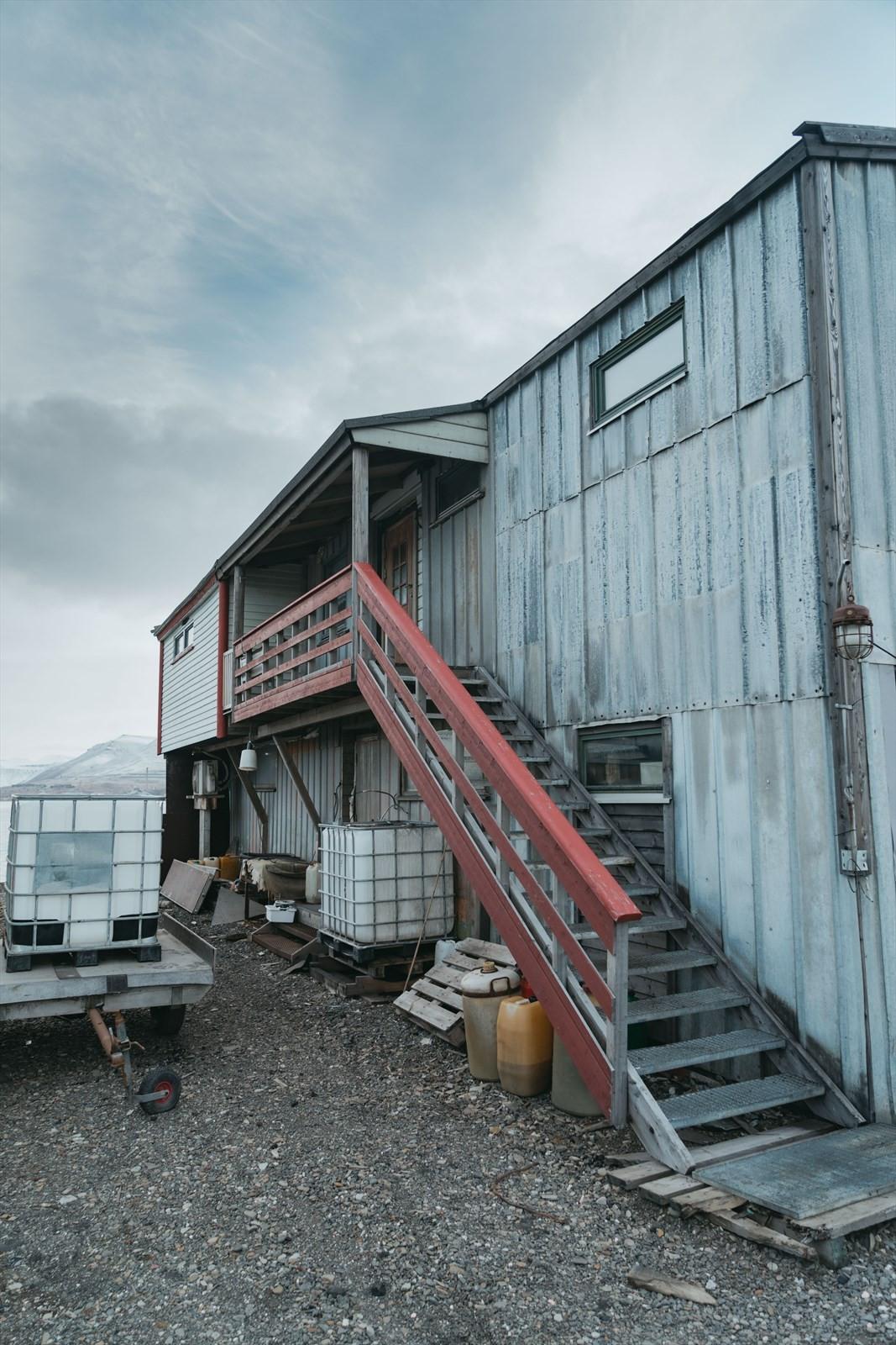 Bygget er innredet med boligdel i 2. etasje