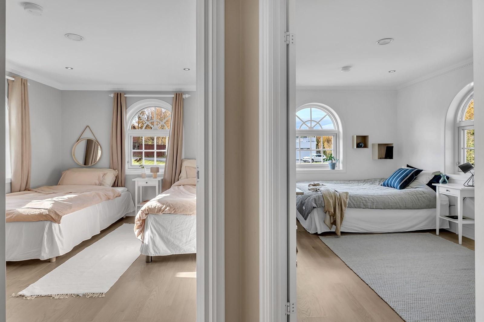 Soverommene i den sørlige fløyen av huset