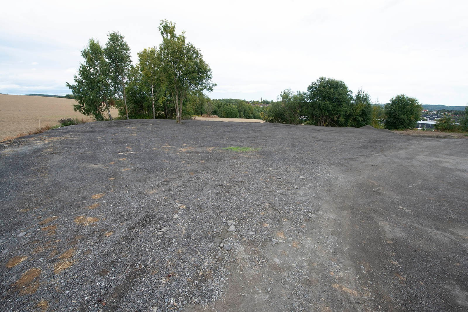 Opparbeidet uteplass - asfalt fresemasser
