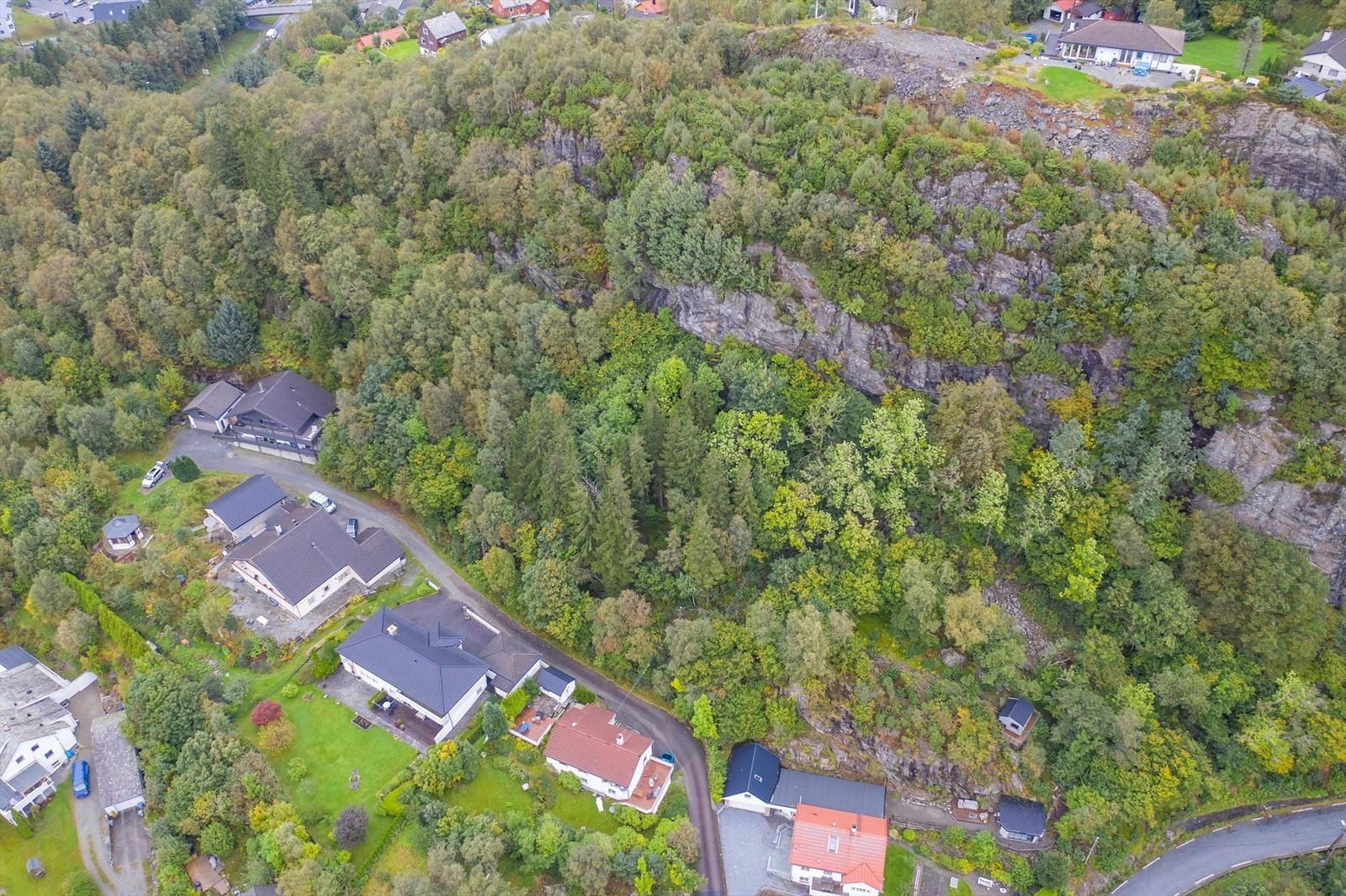 Bnr. 41 ligger på oppsiden av bebyggelsen i bildet.