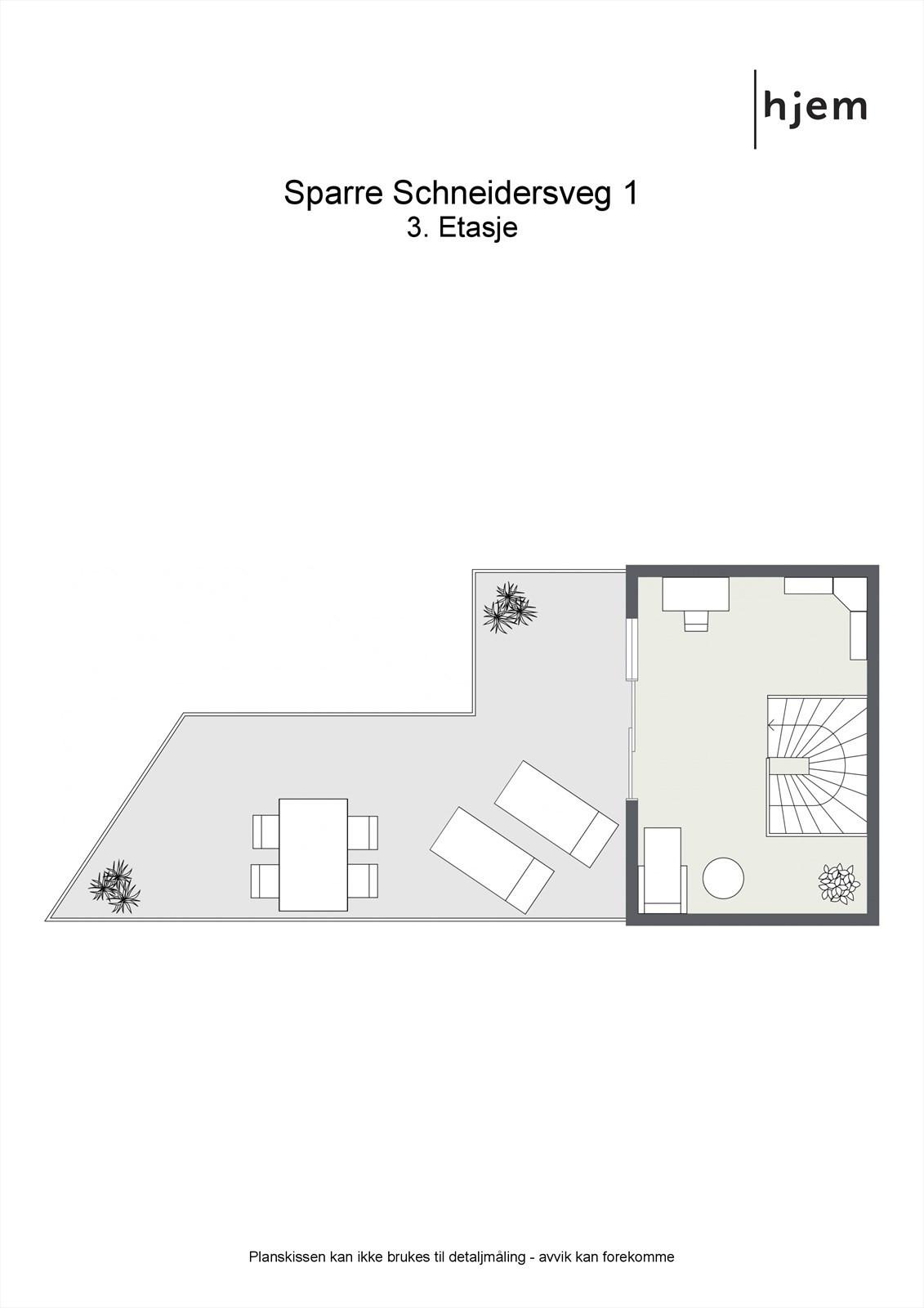 Planløsning 3. etasje