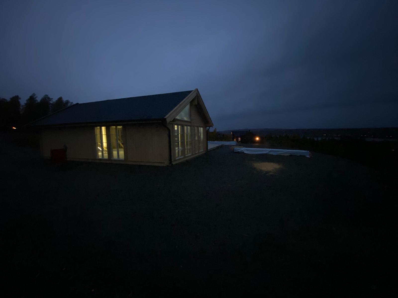 Bilde fra tilsvarende hytte bygget på annen tomt.