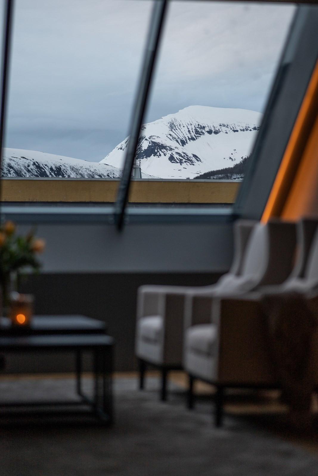 Direkte utsikt mot Tromsdalstinden