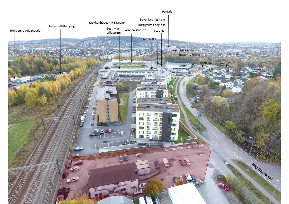 Sentral beliggenhet i etablert næringsområde på Kjeller - kun 5 min. til Lillestrøm sentrum