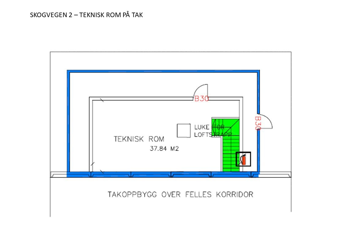 Teknisk rom på tak