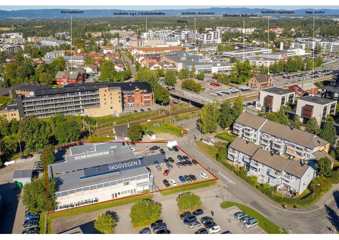 Sentrumseiendom, attraktivt beliggende i en av de raskest voksende byene i landet