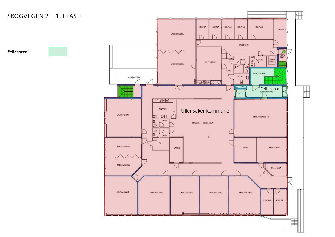 Planskisse med leietakere - 1. etasje (mindre avvik kan forekomme)