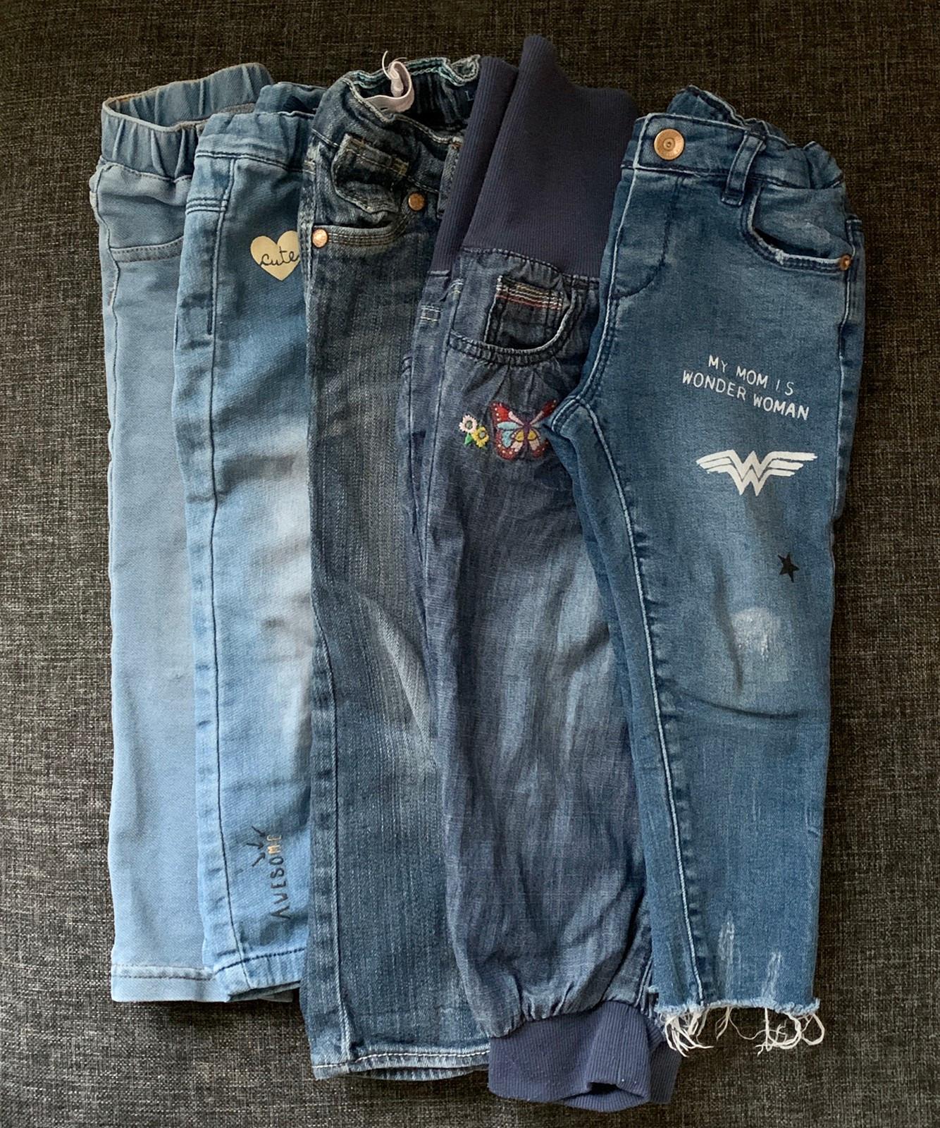 5 stk. Jeans bukser til barn Levi's, Name it, Zara, H&M str
