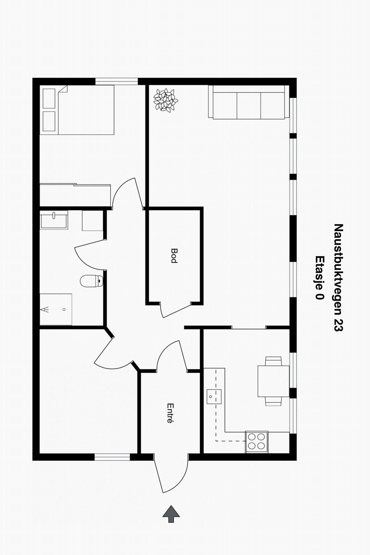 Planskisse etasje. 0