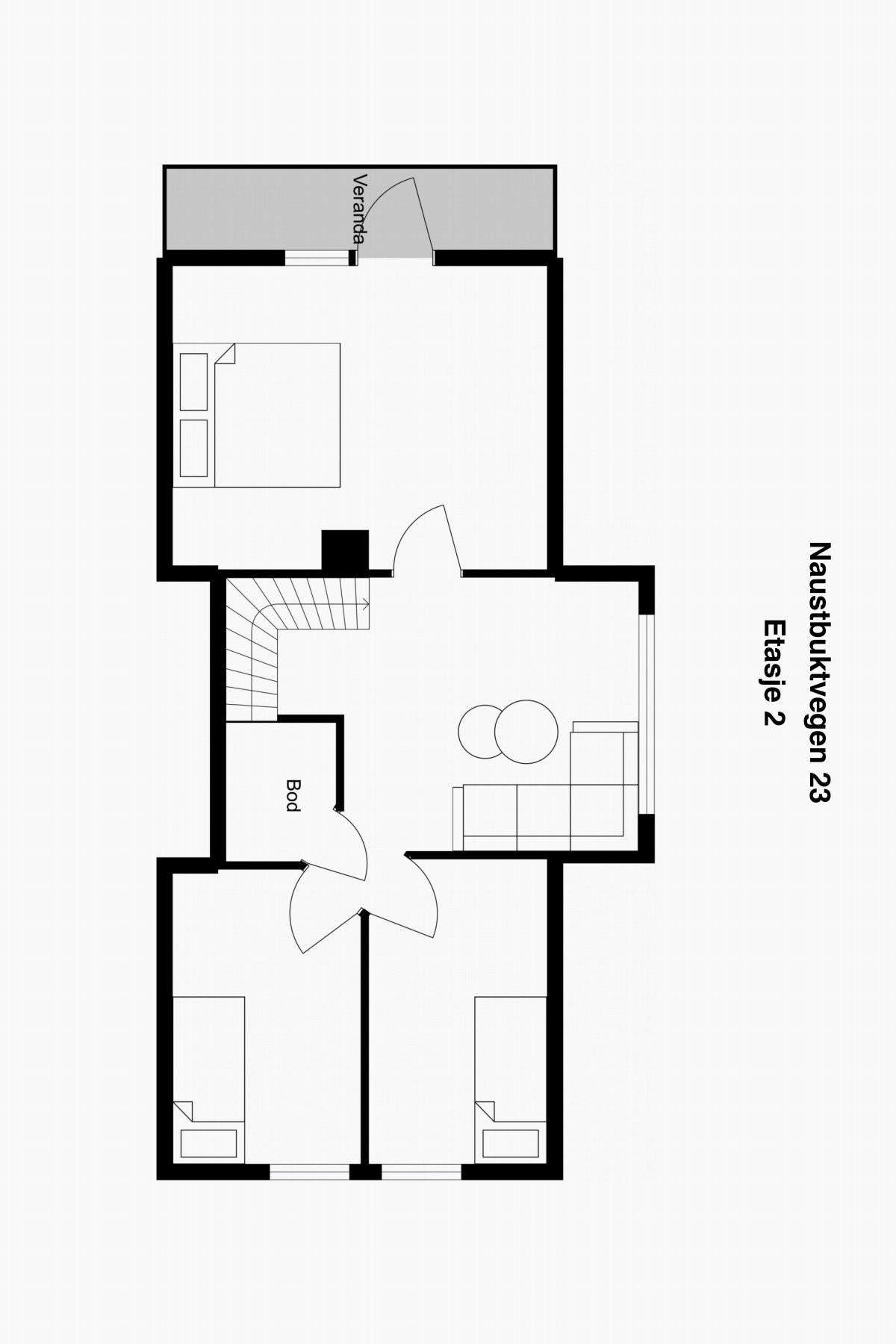 Planskisse etasje. 2