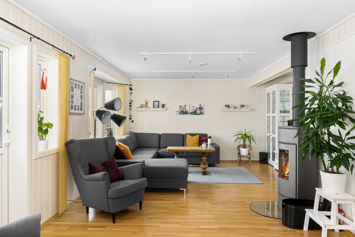 Lys og trivelig stue