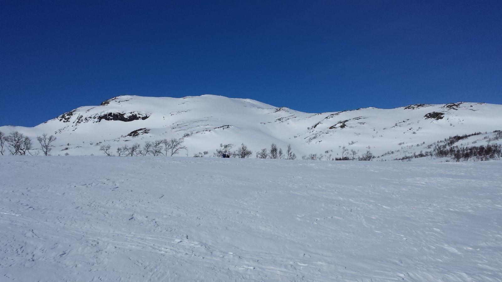 Tomtene har en fantastisk beliggenhet  - Utsikten er fin, og de oppkjørte skiløypene går rett forbi feltet.