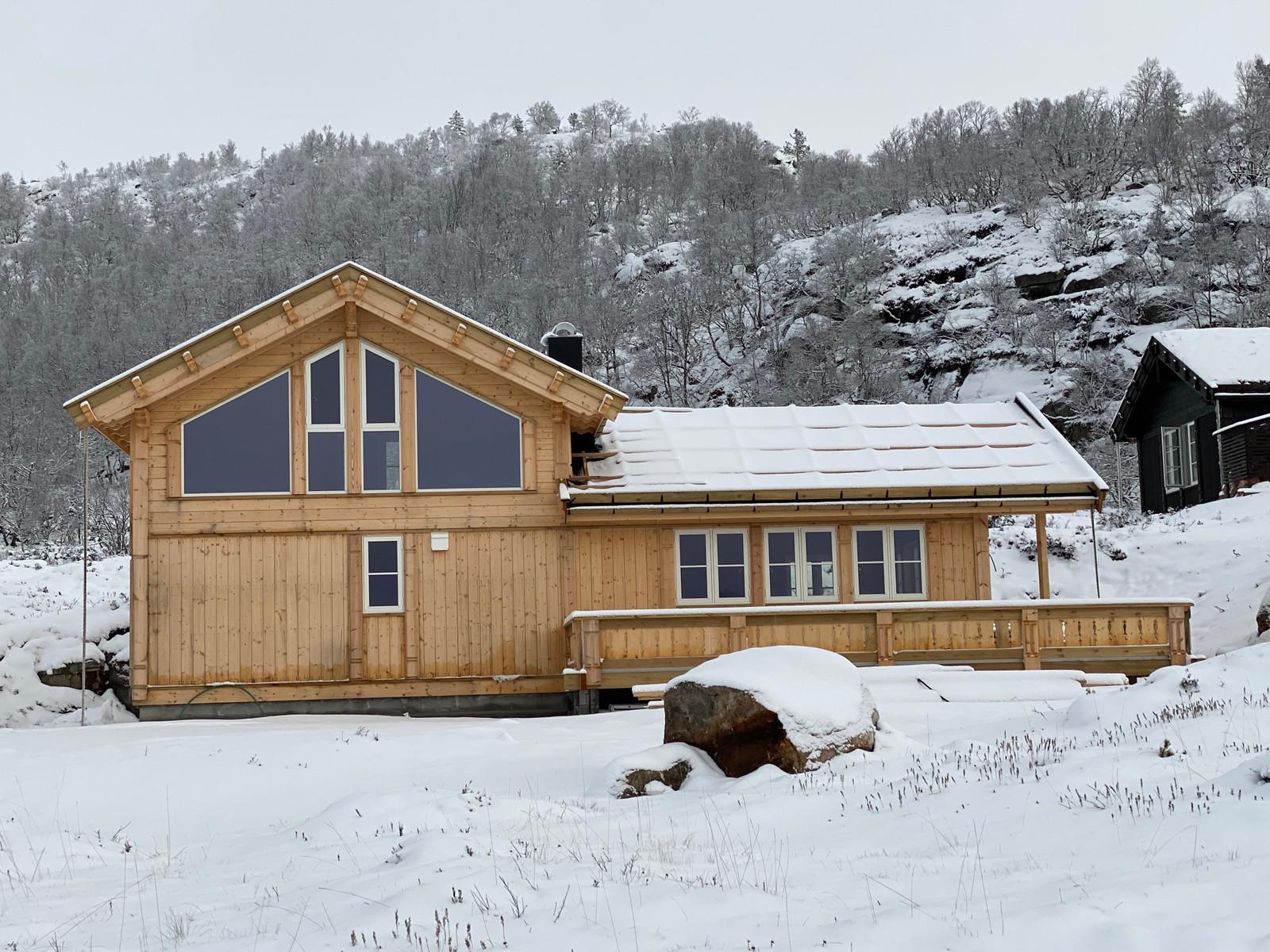 En variant med mye vinduer og flott utsikt for hyttemodell Kikut Panorama - oppført på Hattevarden Knaben