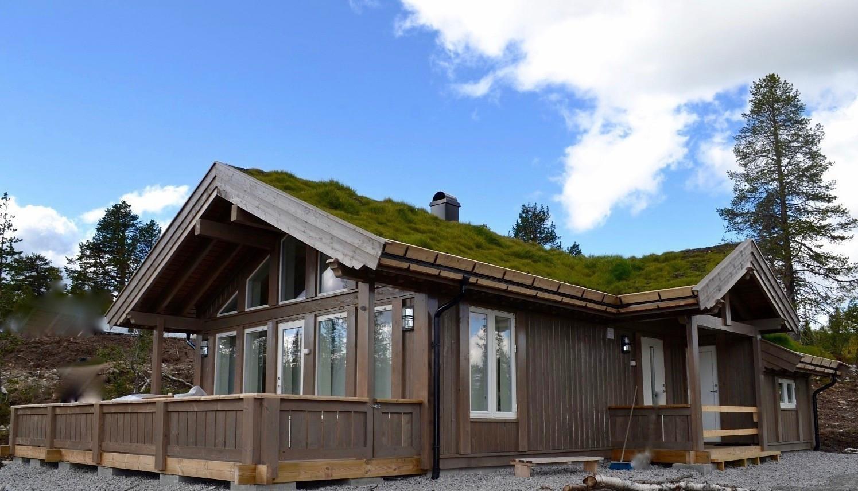 Småroi L fra Buen Gruppen er en effektiv hytte med hems. Valgfri hytte kan velges på ledige tomter.