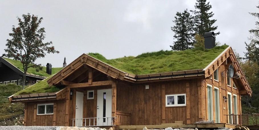 Småroi L fra Buen Gruppen er en effektiv hytte med hems. Valgfri hytte kan velges på ledige tomter