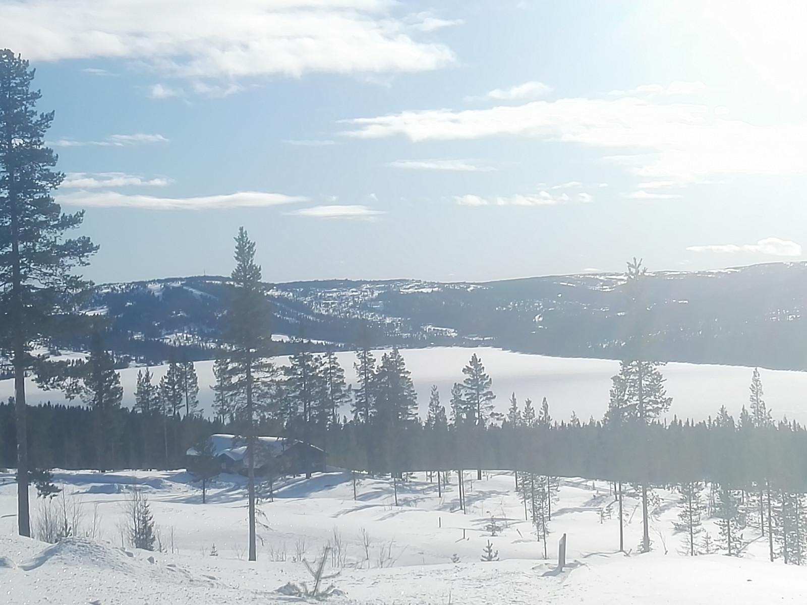 Utsikt fra feltet ned mot Gålåvannet