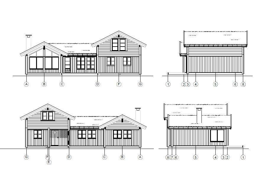 FASADER / Mye vinduer og lekker hyttearkitektur