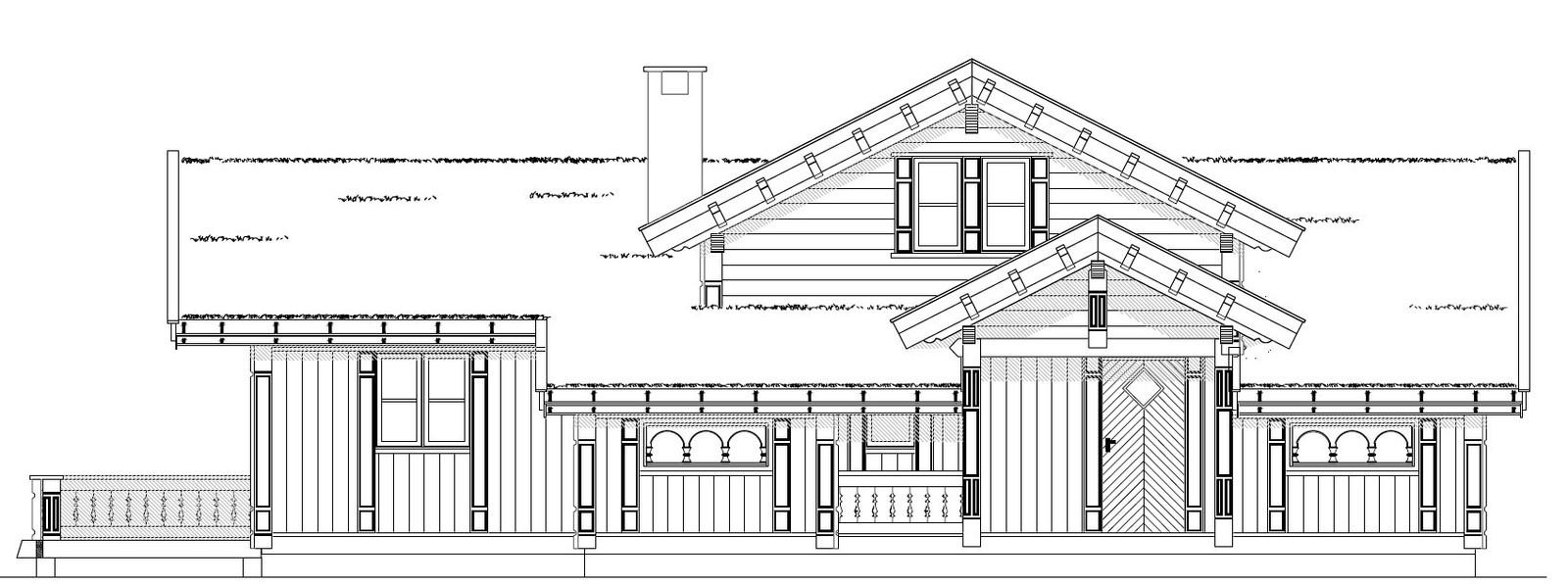 Prosjektert planløsning for den aktuelle hytta