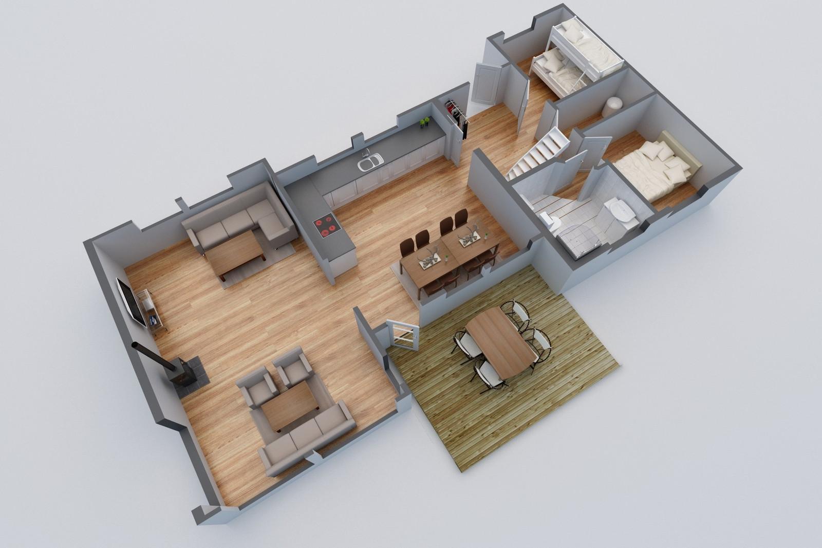 Høgtind illustrasjon over foreslått planløsning