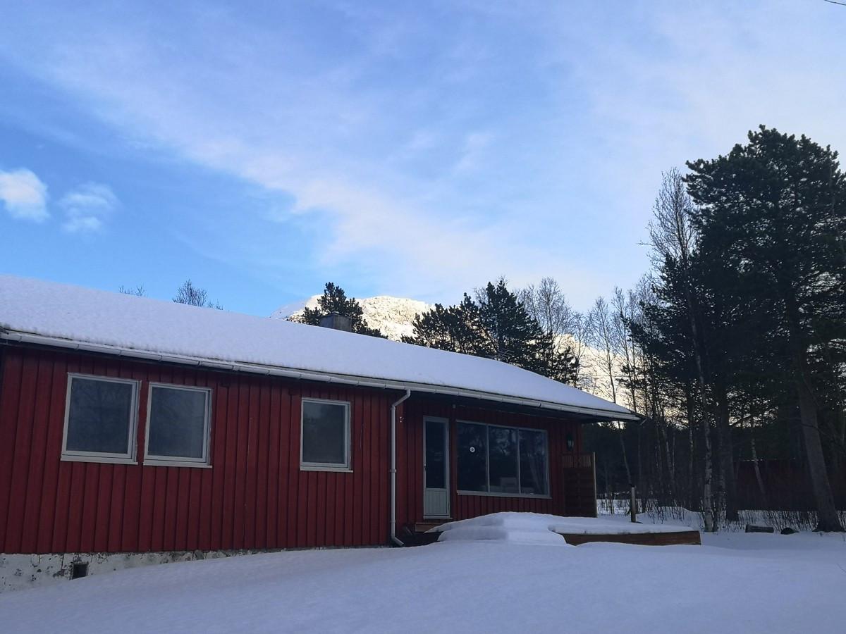 Fasade på vinterstid
