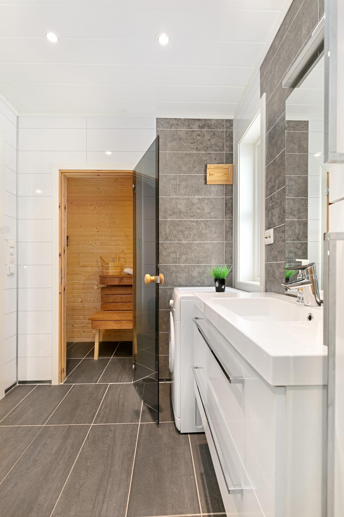 I forbindelse med bad er det badstue
