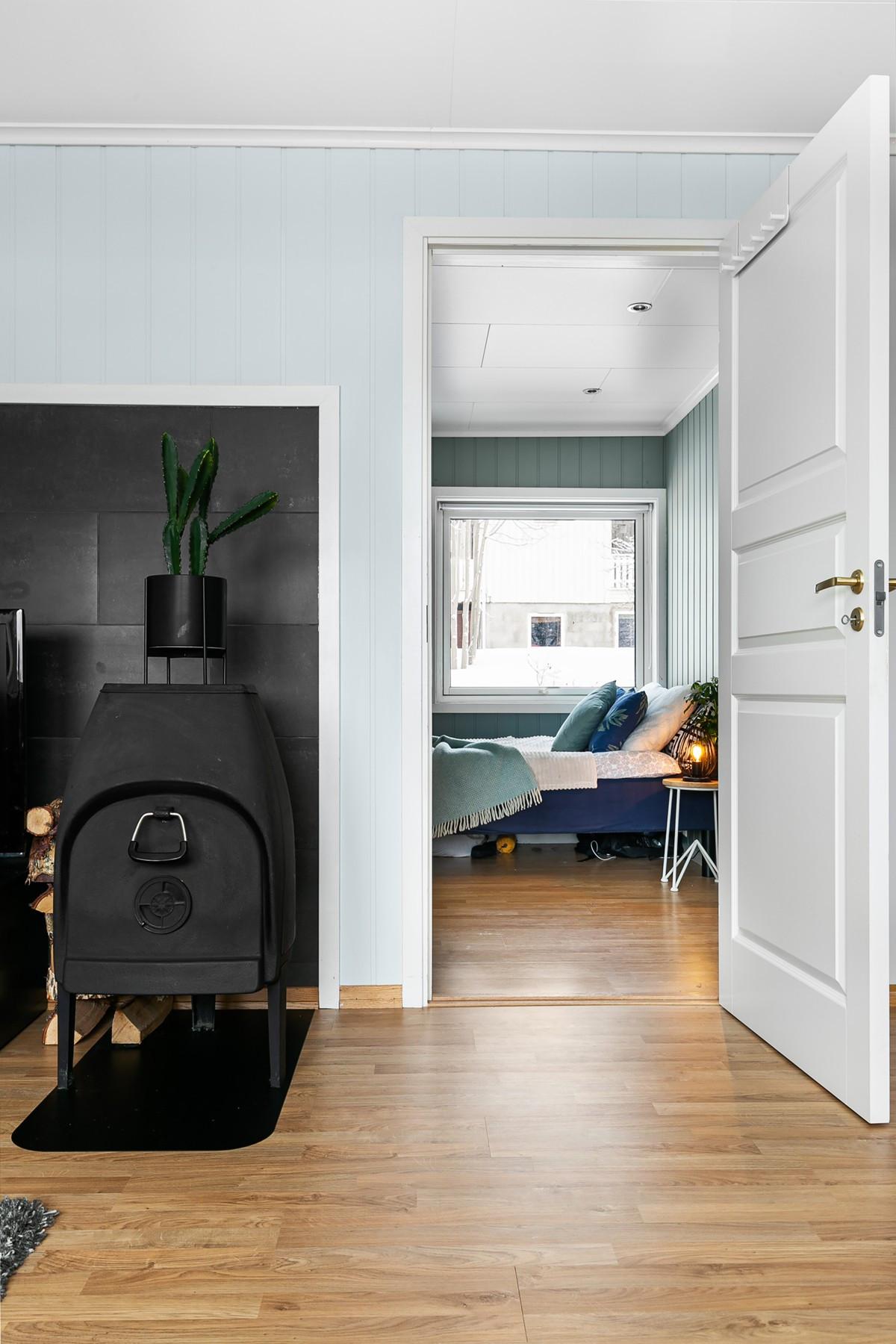 Soverommene er i tilknytning til stue