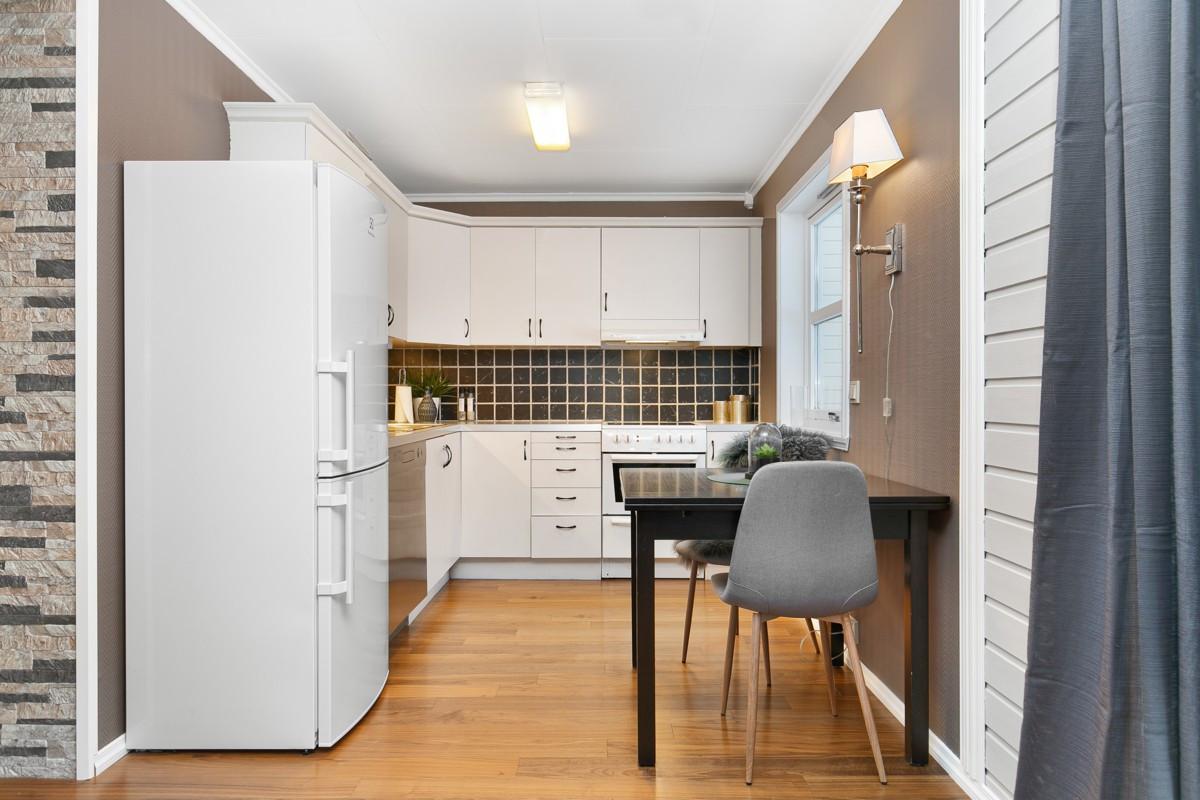 Kjøkkenkrok med spiseplass