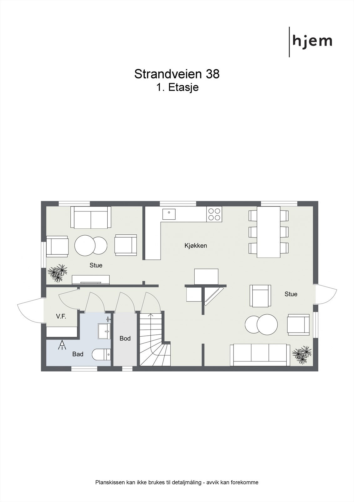 2D planillustrasjon 1. etasje.