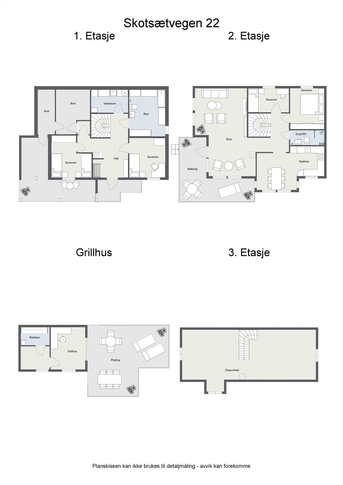 2D planillustrasjon samlet