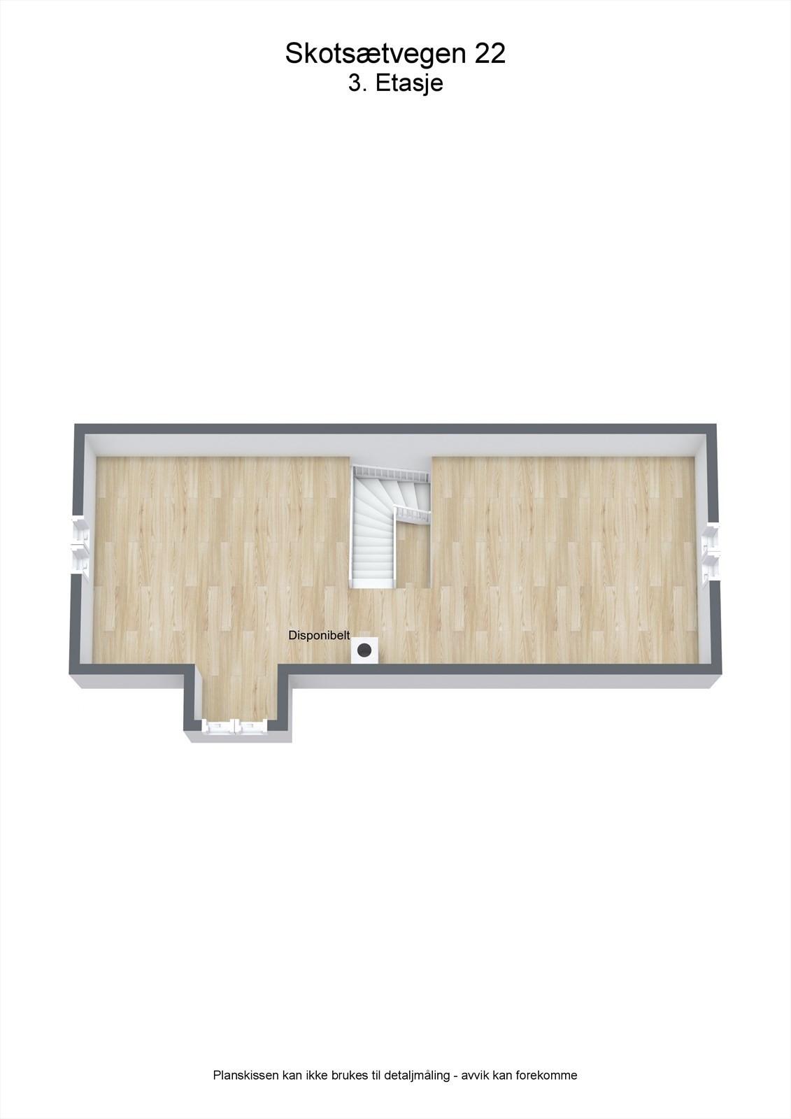 3D planillustrasjon bolig loft, uinnredet