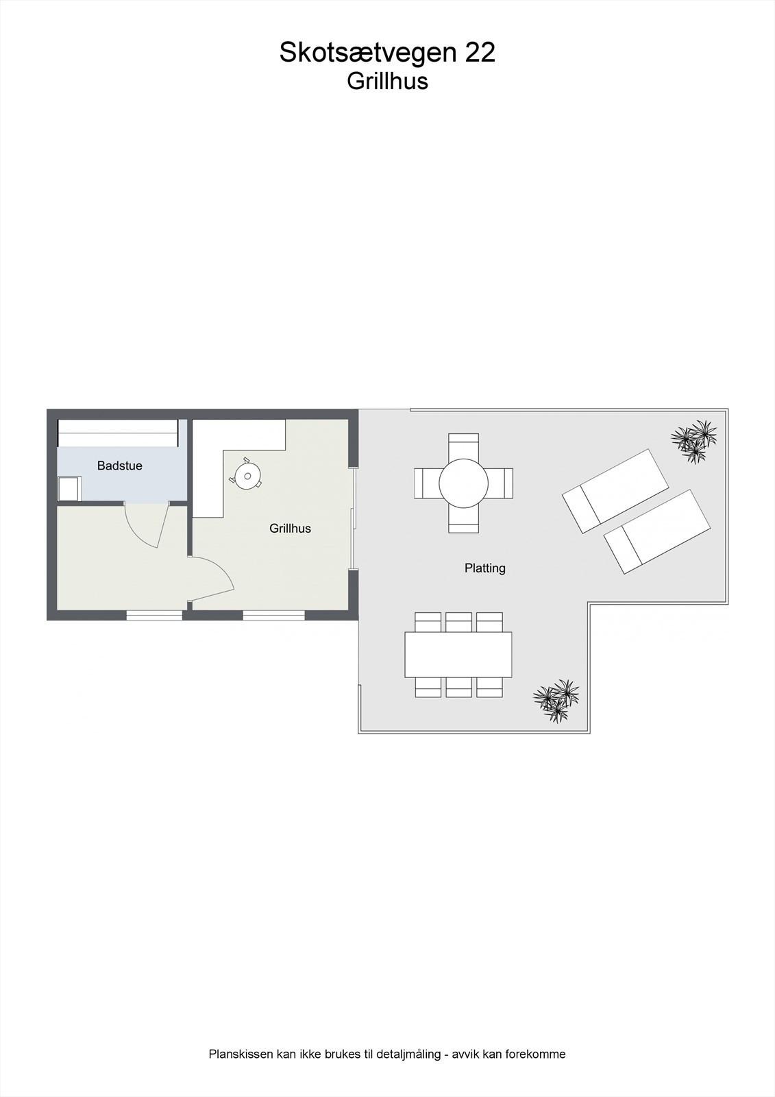2D planillustrasjon grillhus