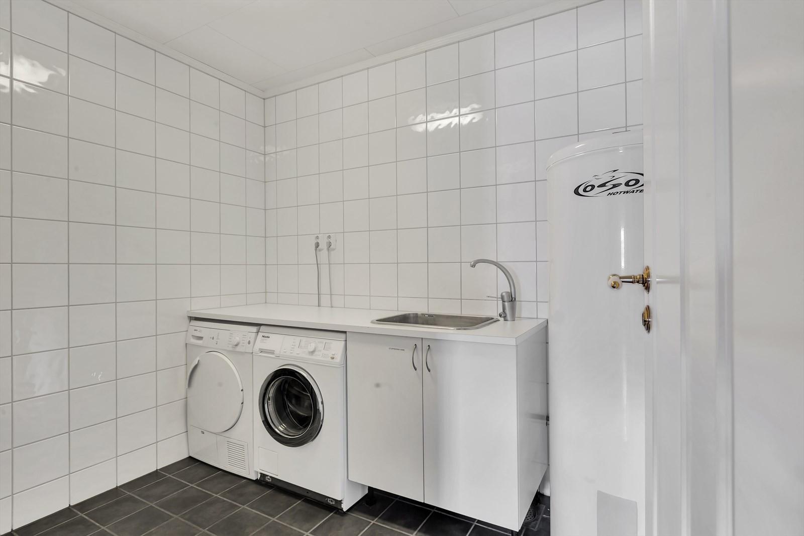 Flislagt vaskerom