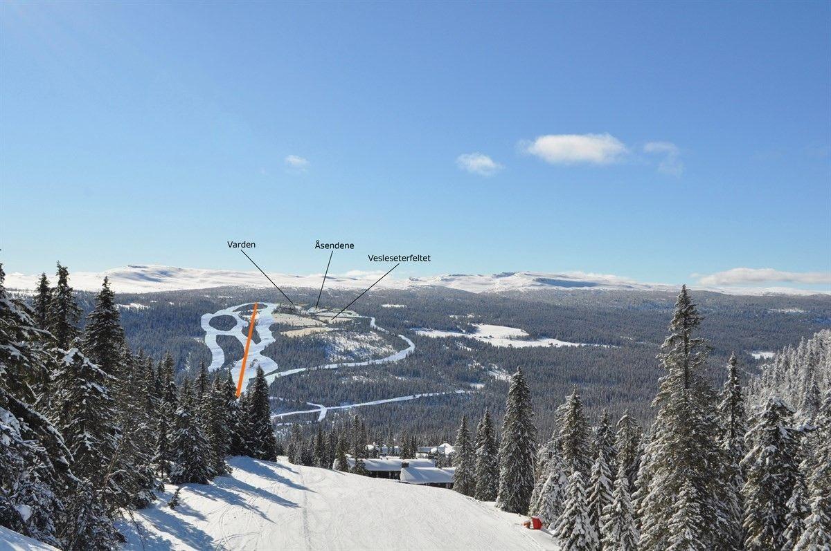 Bilde mot Varden Alpin.