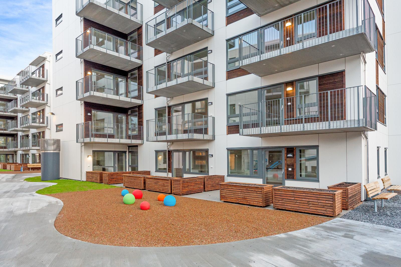 Bildene i annonsen viser en leilighetstype. Vi har flere leilighetstyper med ulik planløsning.