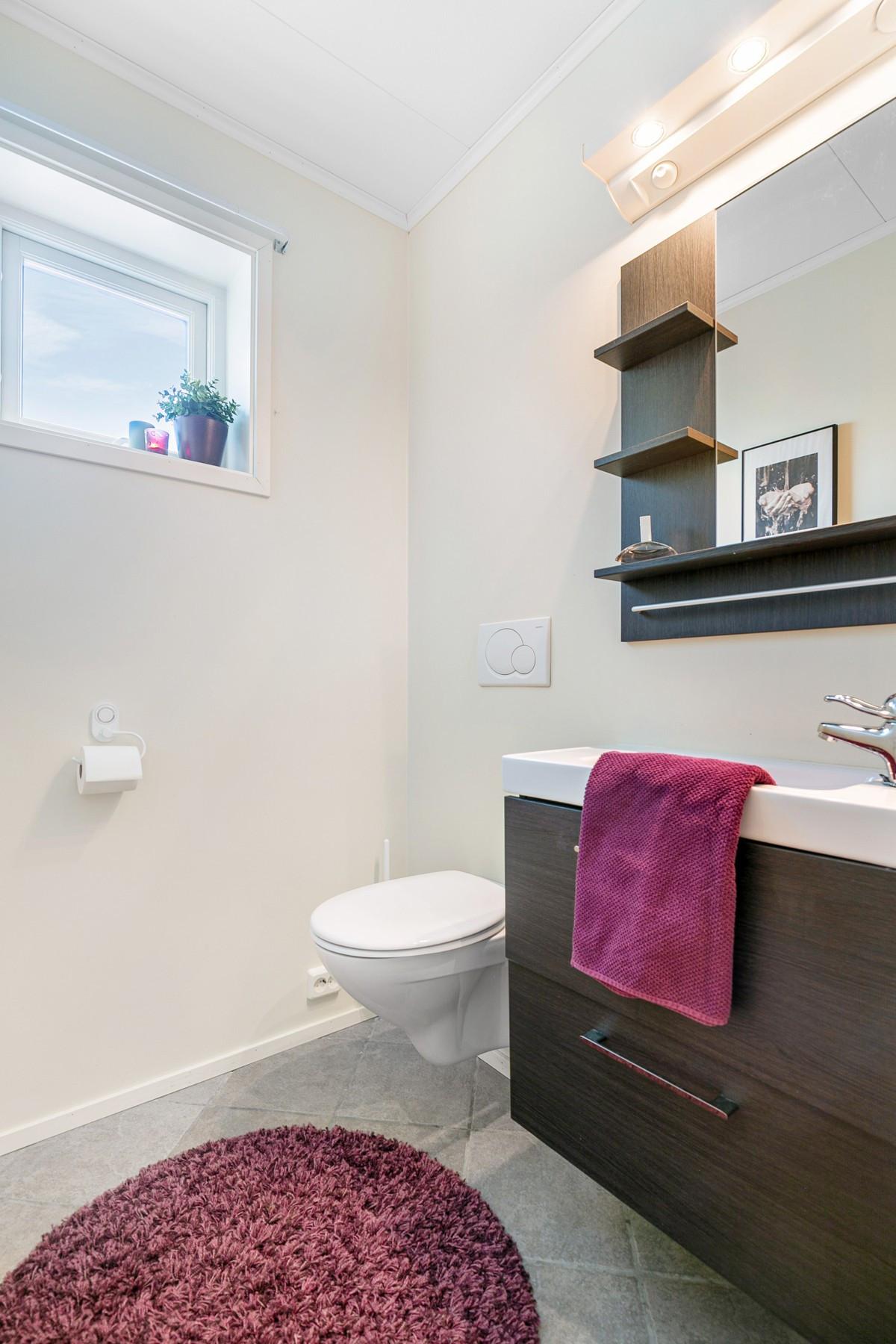 Flislagt wc-rom med gulvvarme