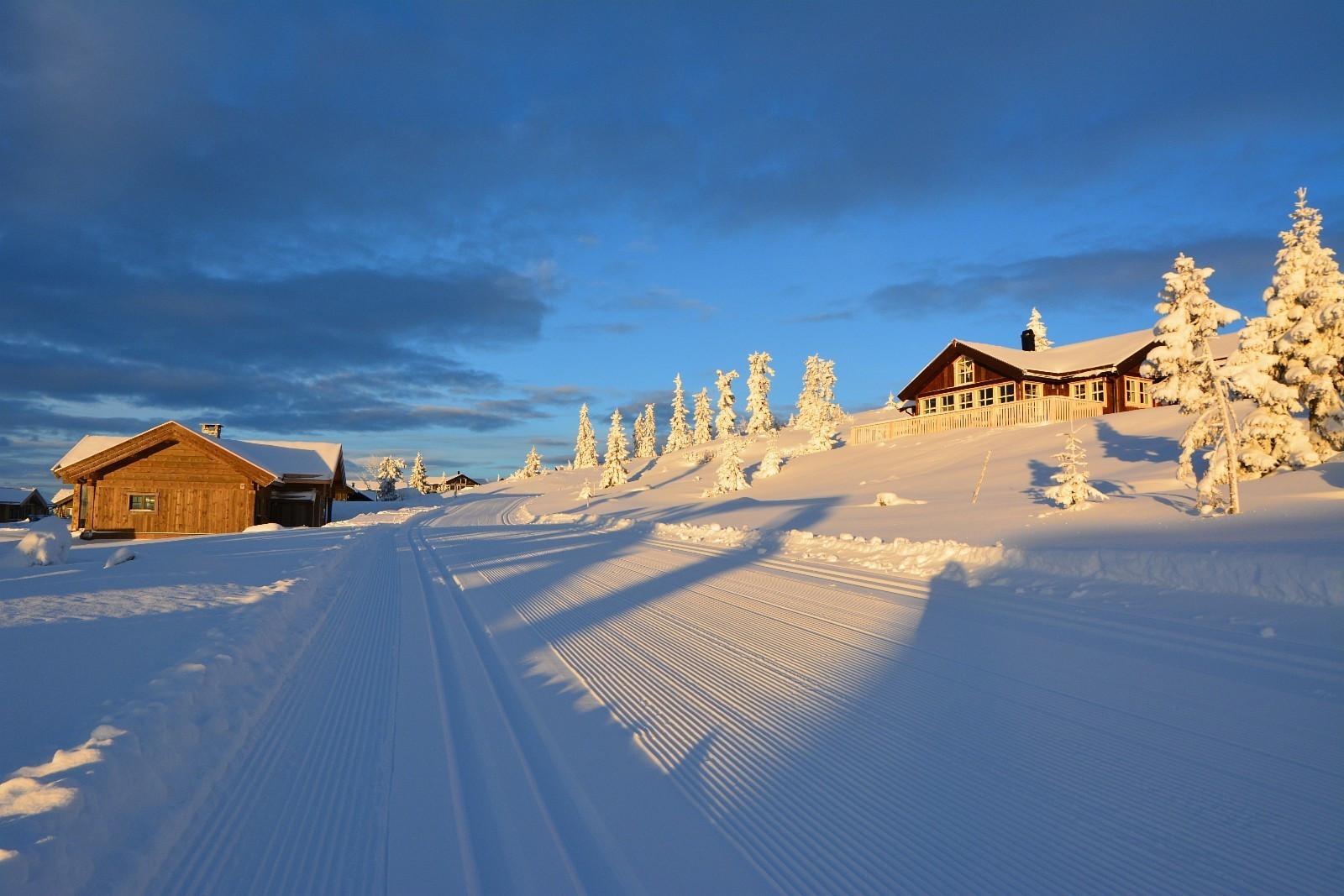 "Vinterbilder fra ""fantastiske Sjusjøen""."