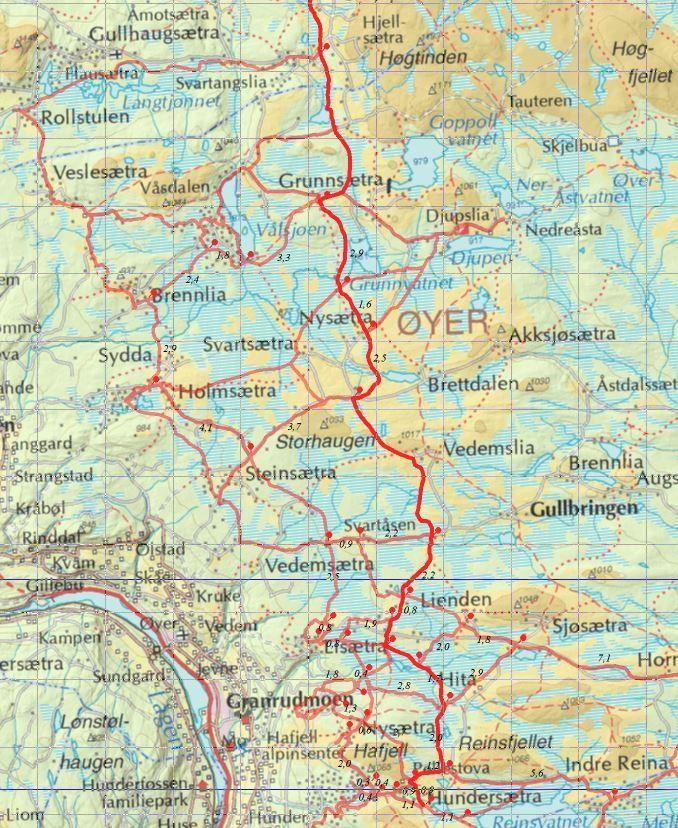KART TROLLØYPA. EUROPAS FLOTTESTE SKIOPPLEVELSE | TROLLØYPA FRA HØVRINGEN TIL LILLEHAMMER (170 KM) .