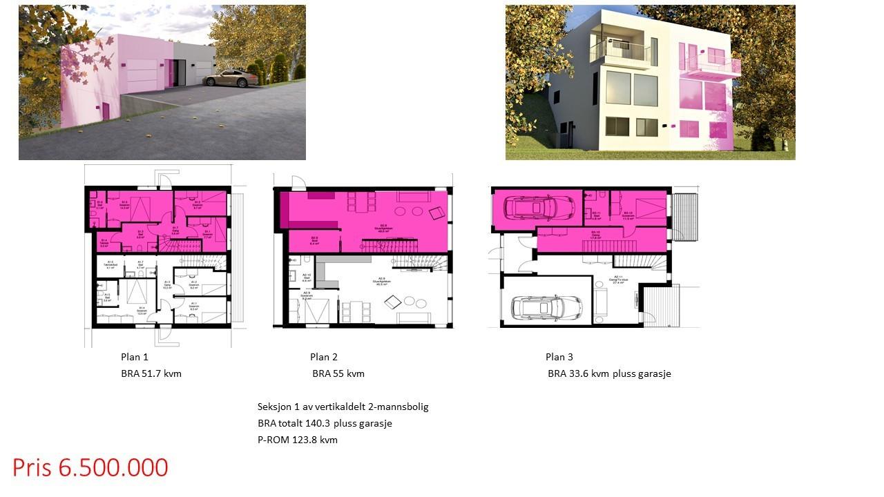 Planløsning Hus 1