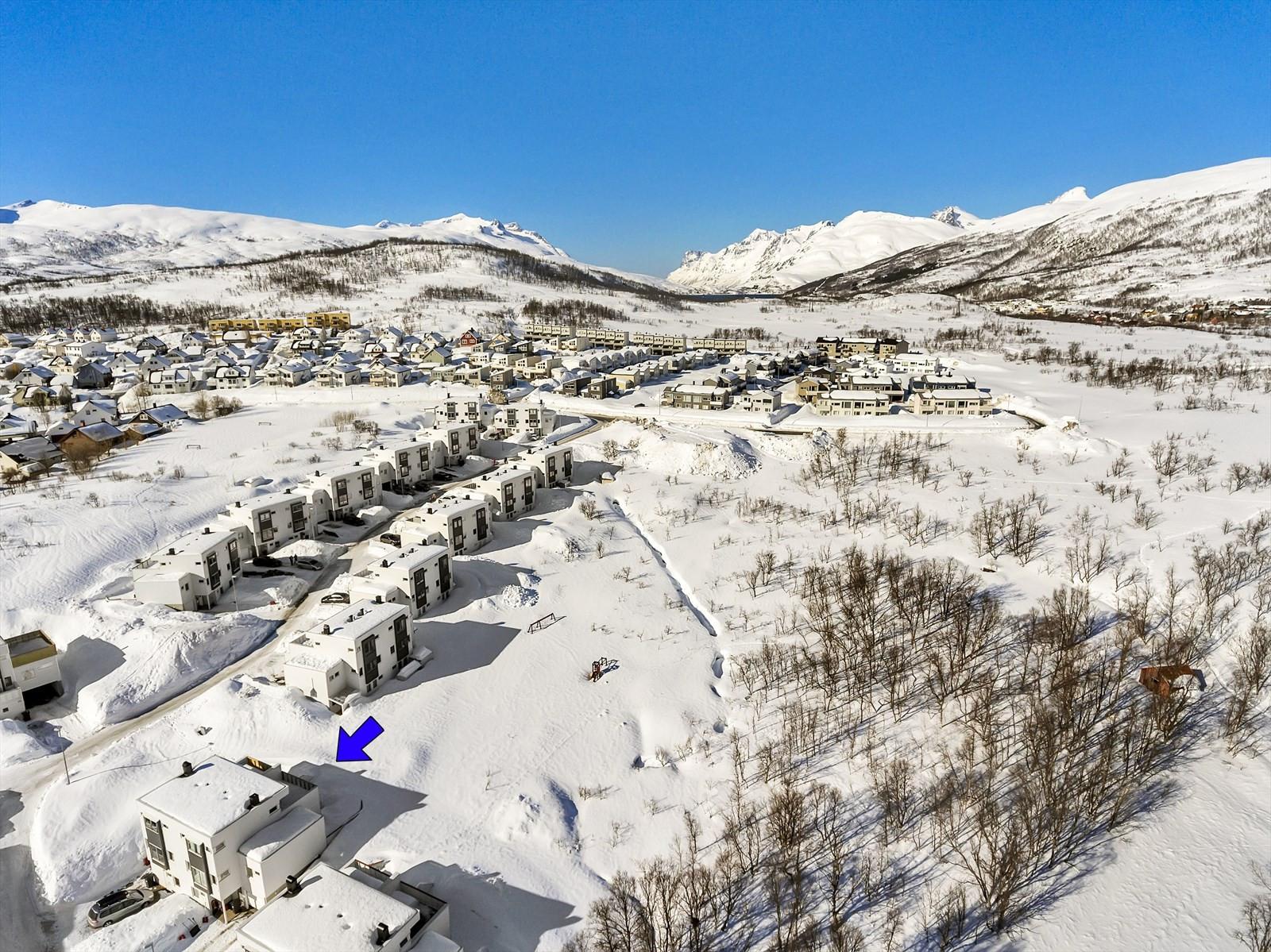 Områdebilde fra drone.