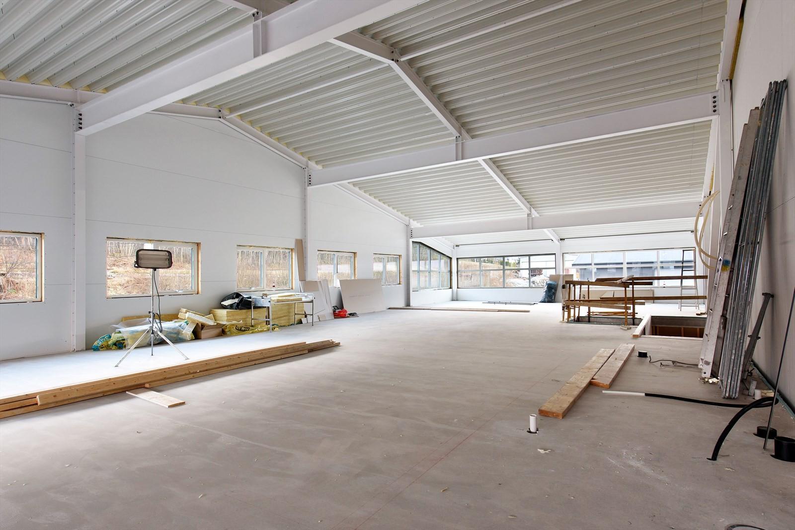 Byggets 2. etasje er klar for å tilpasses nye leietakere.