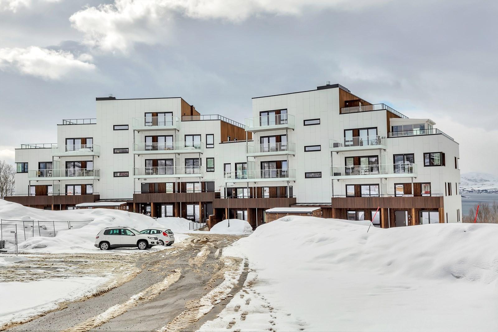 """Leiligheten ligger i byggetrinnet """"ODIN"""" i Norrøna Boligpark"""