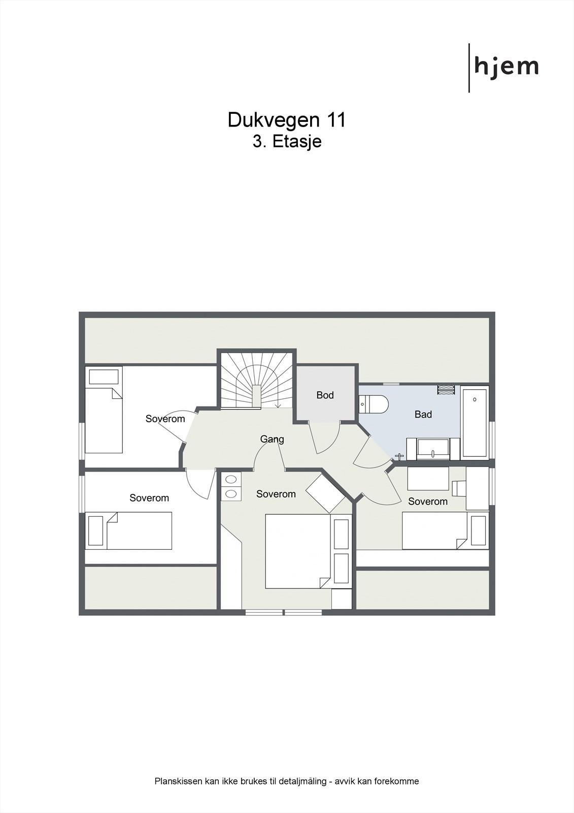 Plantegning 2d, 3. etasje