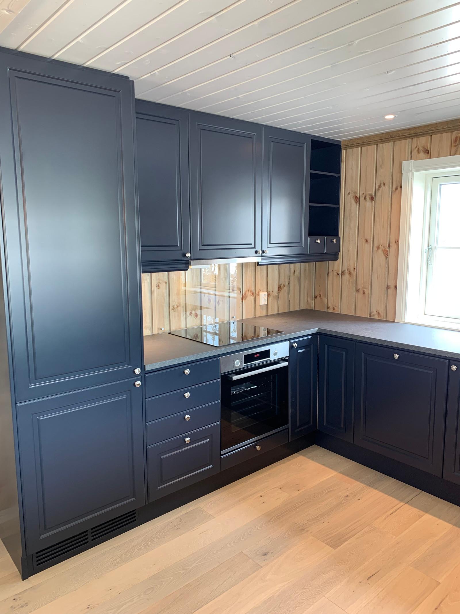 Profilert kjøkken med valgfritt farge.