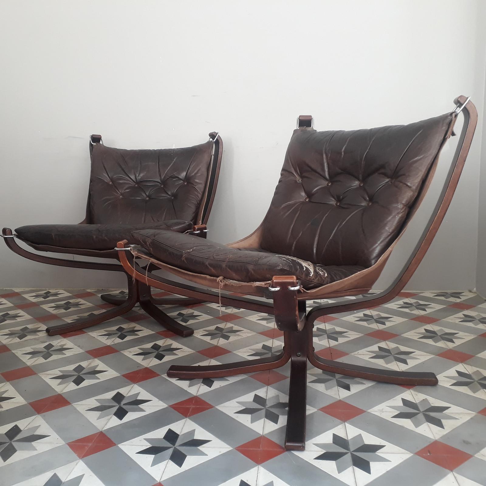 Falcon lenestoler designet av Sigurd Resell for Vatne møbler