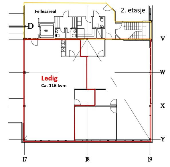 Planskisse 2 etasje Roseveien 1