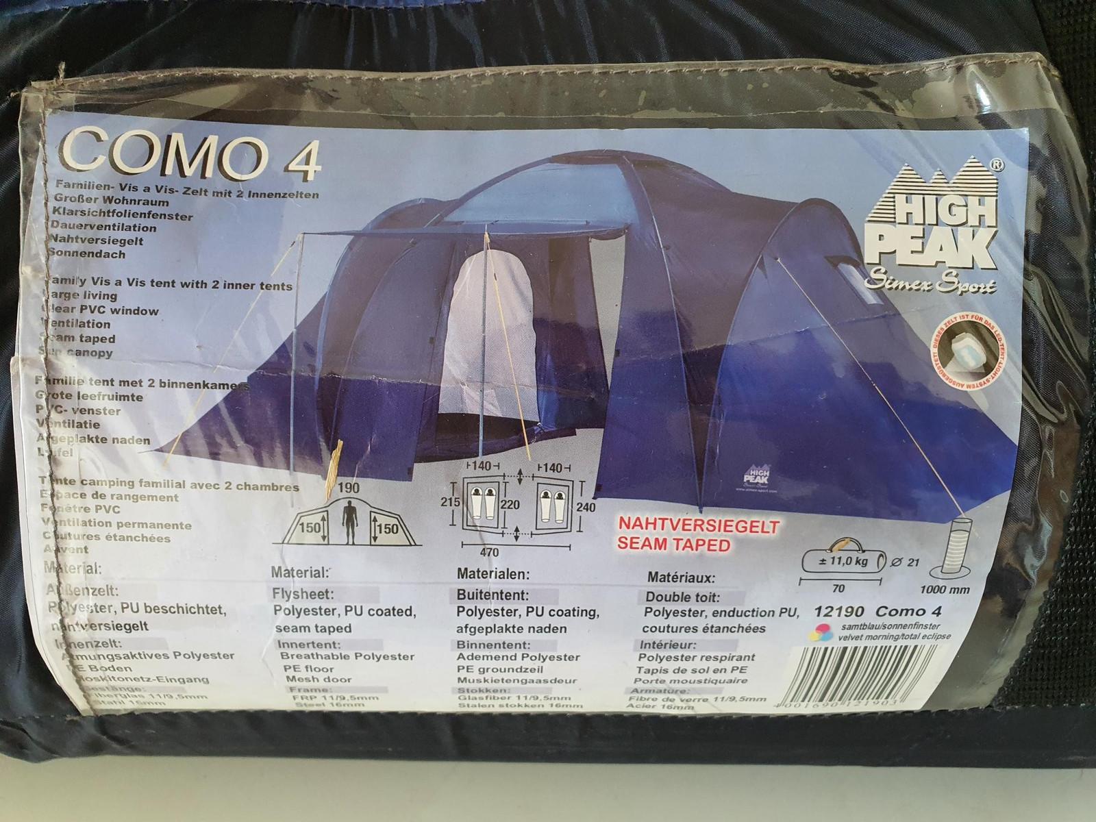 Flott family 4 manns telt High Peak | FINN.no