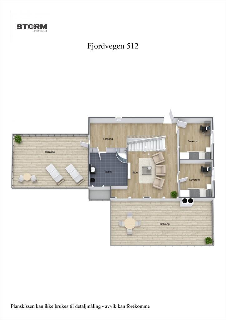 3D planillustrasjon 3. etasje.