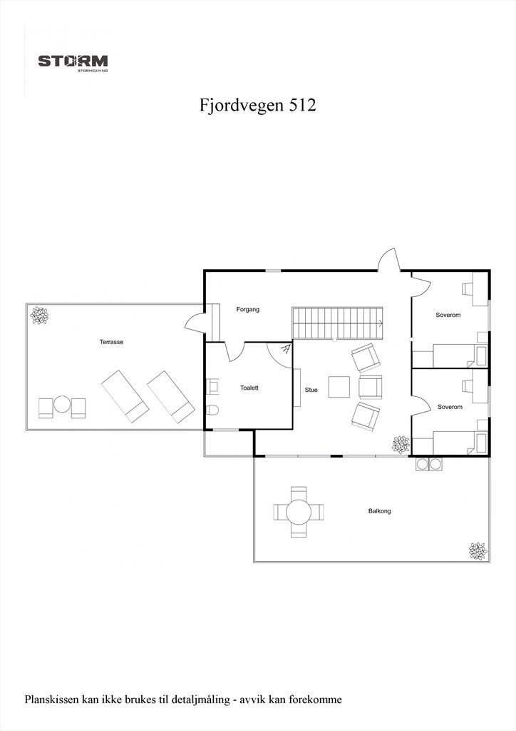 2D planillustrasjon 3. etasje.