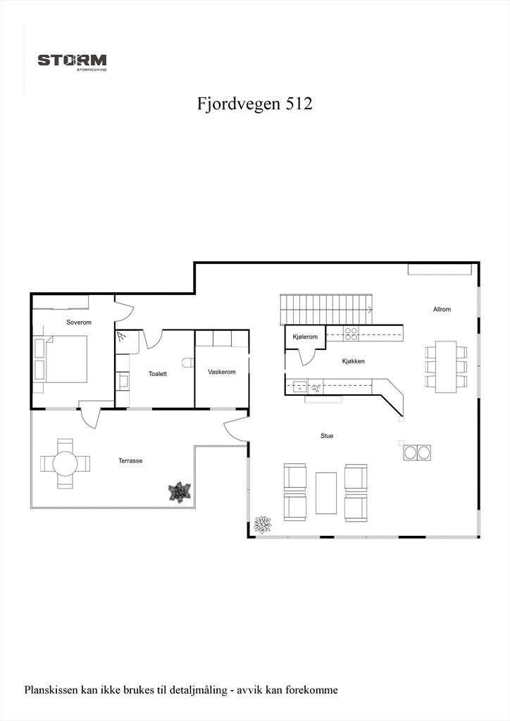 2D planillustrasjon 2. etasje.