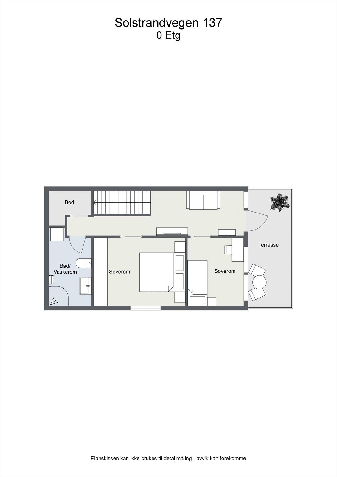 2D planillustrasjon u. etasje.